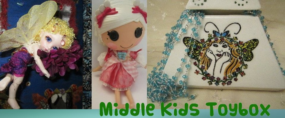 A welcome banner for Middle Kids Toybox