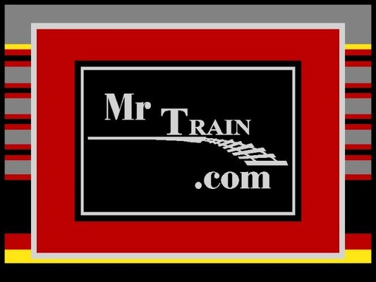 A welcome banner for MrTrain Model Railroad Store