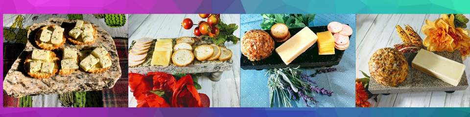 A welcome banner for Granite Cheese Boards