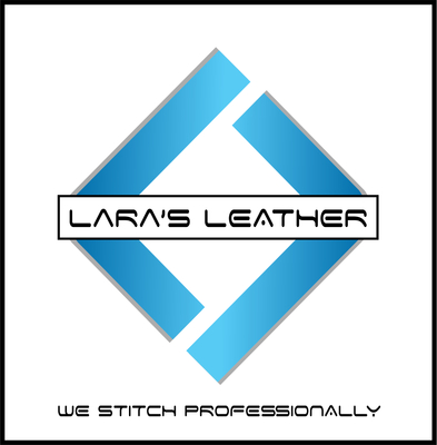 A welcome banner for Lara's Leather booth