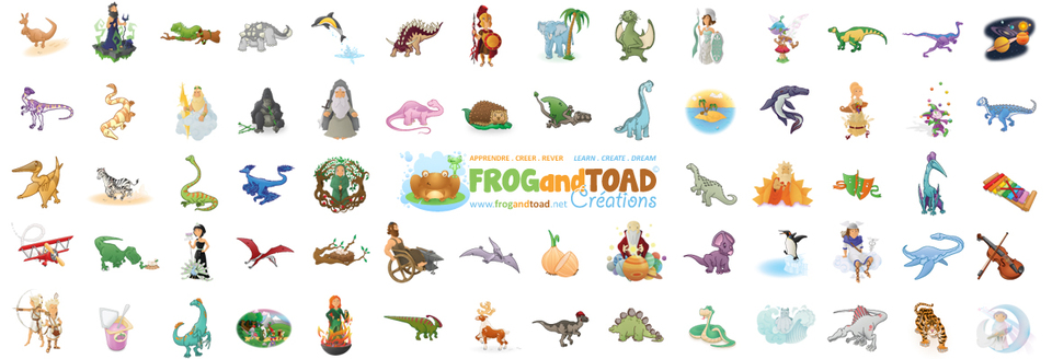 A welcome banner for FROGandTOAD Créations