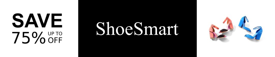 A welcome banner for ShoeSmart - Designer Shoes At Deep Discounts