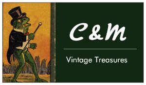 A welcome banner for C & M Vintage Treasures