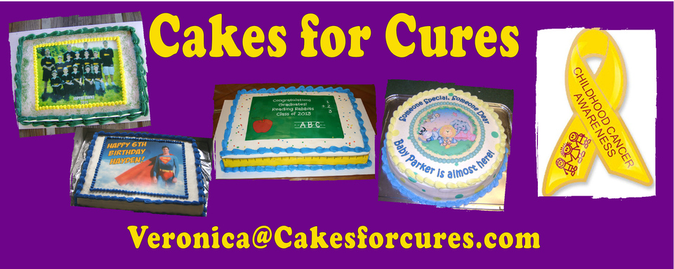A welcome banner for Cakes For Cures Edible Cake Images