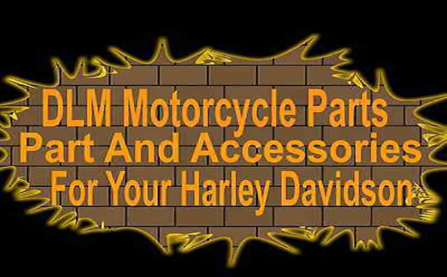 A welcome banner for DLM Motorcycle Parts And Accessories