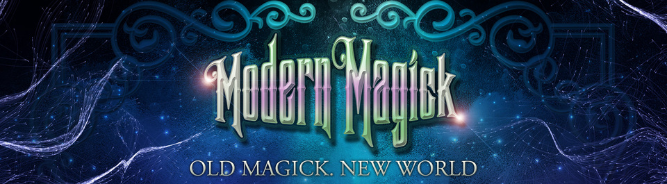 A welcome banner for Modern Magick! Guaranteed Authentic Magick & Authentic Results