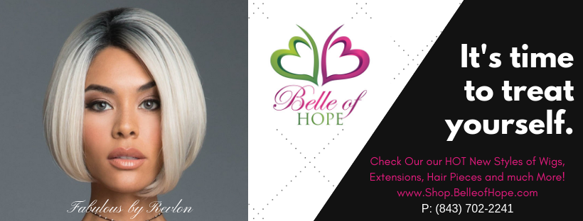 A welcome banner for Belle of Hope Beauty