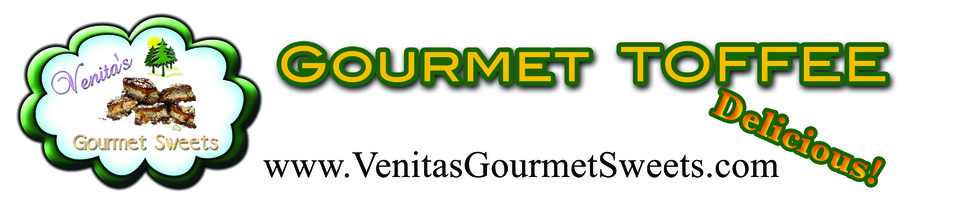 A welcome banner for Venita's Gourmet Sweets