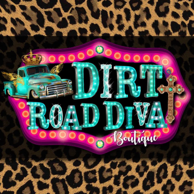 A welcome banner for Dirt Road Diva Boutique