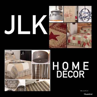 A welcome banner for JLK HOME DECOR