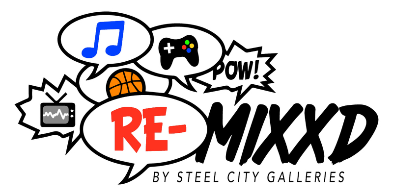A welcome banner for Remixxd by Steel City Galleries