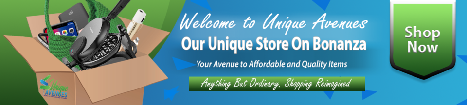 A welcome banner for Unique Avenues Market Place