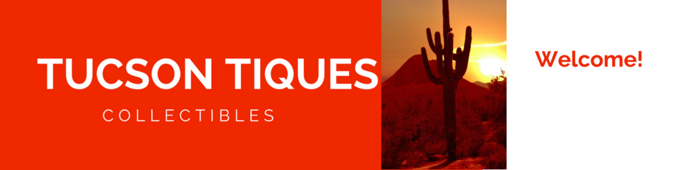 A welcome banner for Tucson Tiques Collectibles