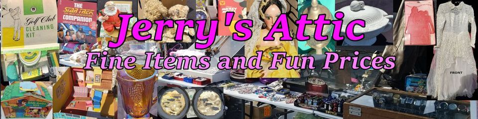 A welcome banner for Jerrys Attic