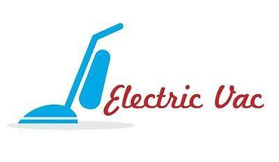 A welcome banner for Electric Vac's Booth
