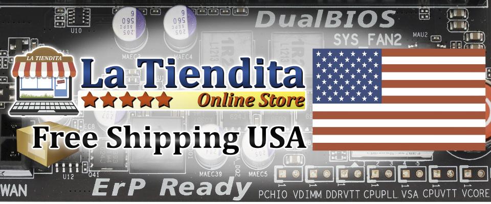 A welcome banner for La Tiendita Online Store