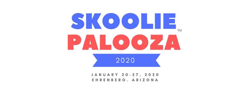A welcome banner for Skooliepalooza