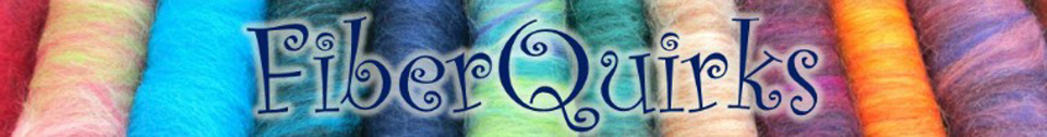 A welcome banner for FiberQuirks Booth
