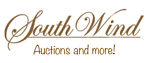 A welcome banner for South Wind Auctions and More