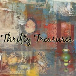 A welcome banner for Thrifty Treasures