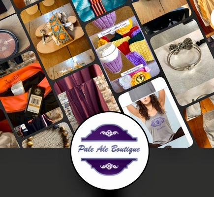A welcome banner for Pale Ale Boutique's Booth