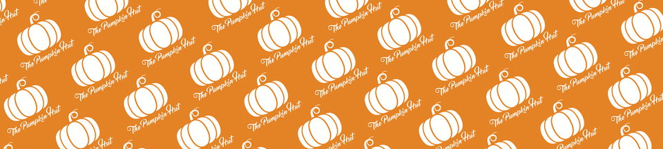 A welcome banner for The Pumpkin Hut
