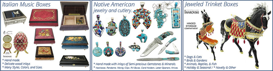 A welcome banner for CMG Gifts & Collectibles