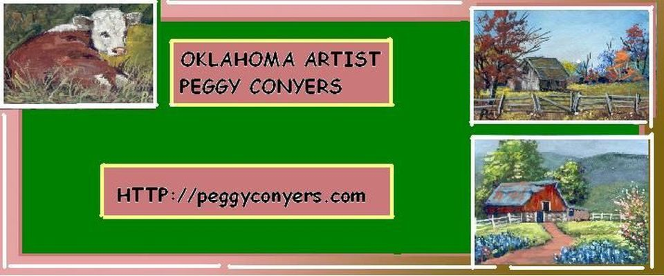 A welcome banner for Conyers Art booth