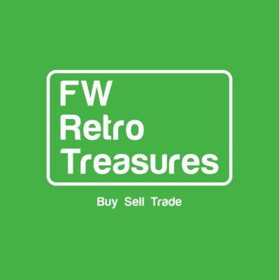 A welcome banner for FWRetroTreasures