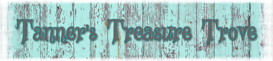 A welcome banner for TannersTreasureTrove