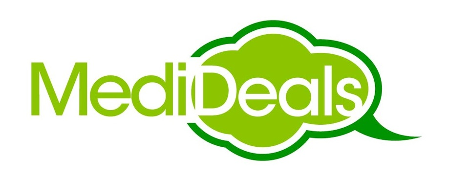 A welcome banner for Medideals  Booth - For all your Health Care Products