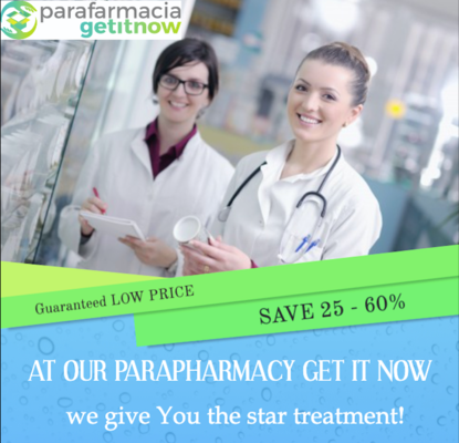 A welcome banner for Parapharmacy Get it Now