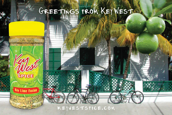 A welcome banner for Key West Spice