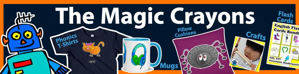 A welcome banner for The Magic Crayons Booth