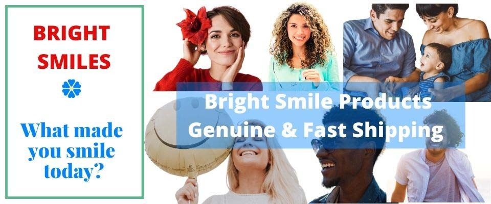 A welcome banner for BrightSmiles's booth