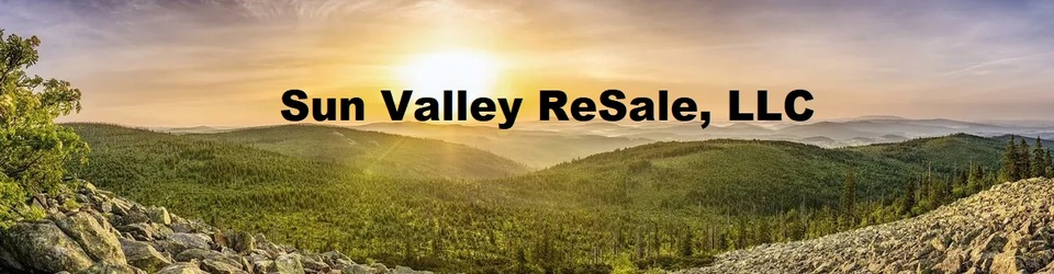 A welcome banner for Sun Valley ReSale LLC