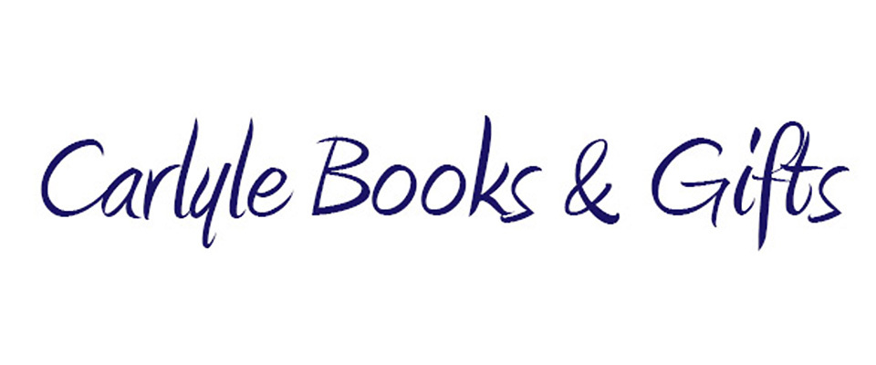 A welcome banner for Carlyle Books & Gifts