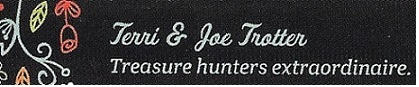 A welcome banner for Terri & Joes Treasures