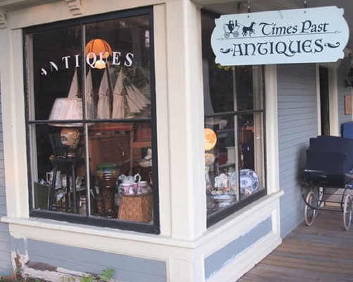 A welcome banner for Times Past Antiques