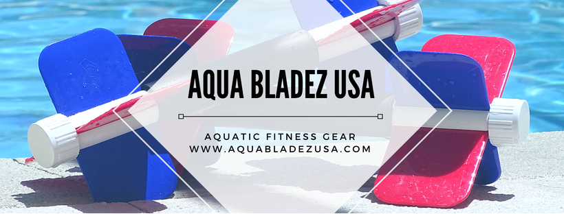 A welcome banner for Aqua Bladez  Multi Resistance Aqua Dumbbells  Total Body Pool Exercise Equipment