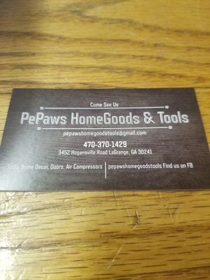 A welcome banner for PePaws's Store