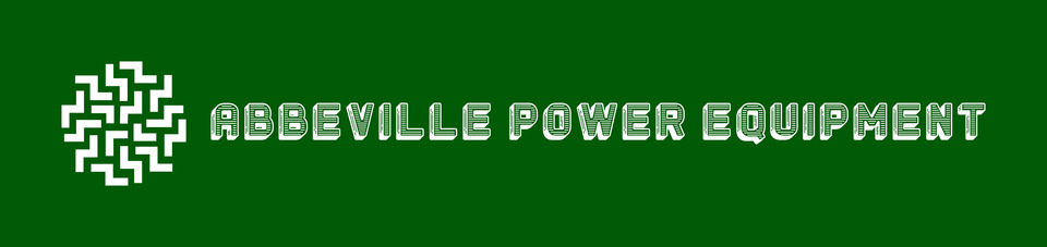 A welcome banner for Abbeville Power Equipment