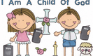 Sweet sunday school kids clipart