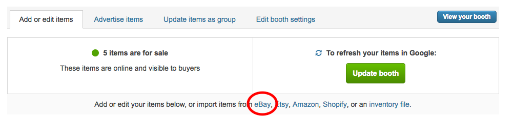 How Do I Import Items From eBay / Amazon / Etsy / Shopify?