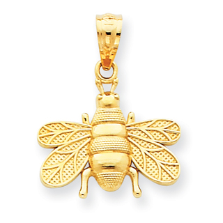 14k polished bee pendant azc3462j828