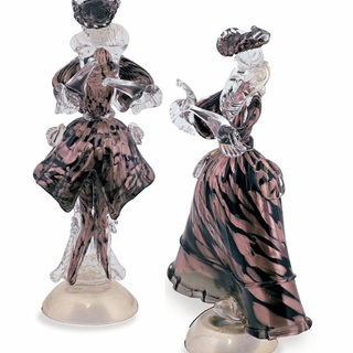 Murano glass 760 gr 28 cm venetian figurines listed