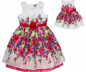 Girl 12 and Doll Matching Fancy Floral Easter Summer Party Dress American Girl, an item from the 'Spring Wear' hand-picked list