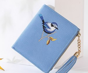 Wallet Women Bird Embroidery Portefeuille Femme Zipper Hasp Short Purse Leather , an item from the 'Community Picks: Spring has sprung' hand-picked list