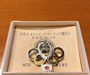 Tokyo Olympics J.O.C 1964 commemorative badge selected by Souvenir rare, an item from the 'Community Picks: Olympics in Japan' hand-picked list
