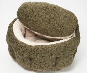 "Burrow Bud 29""  x 31""  Cozy Cuddle Pet Bed  Olive   BM5, an item from the 'Community Picks: Pets are for Pampering' hand-picked list"